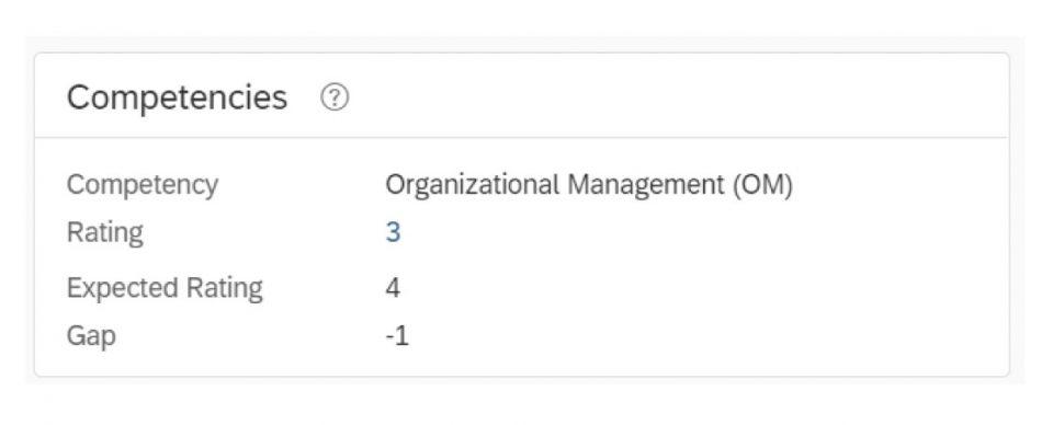 """Das Portlet """"Kompetenzen"""" zeigt Bewertungen entsprechend dem Stellenprofil und den Leistungsformularen."""