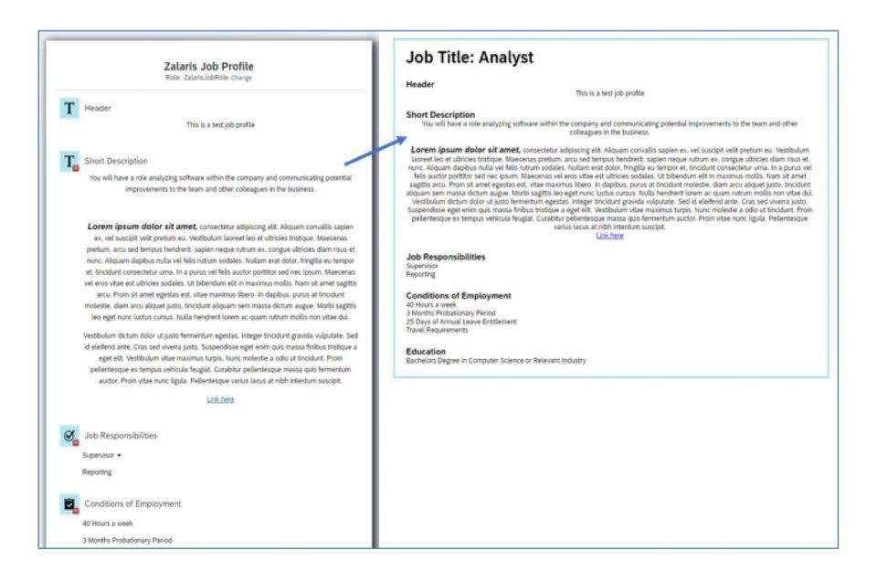 Ein beispielhaftes Jobprofil und wie die Jobbeschreibung im Recruiting dargestellt wird